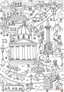 Trafalgar Square coloring page | Free Printable Coloring Pages