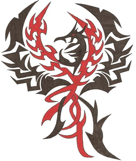 tribal phoenix tattoo images tribal by vipergts1011 on deviantart