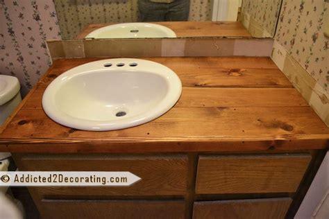 Cheap Wood Countertops by Diy Wood Countertop Bathroom Spaces