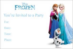 frozen free printable birthday invitation personalized invites