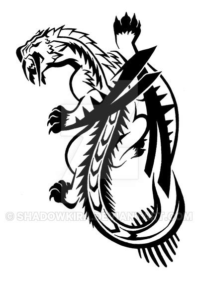 tribal barioth commission by shadowkira on deviantart