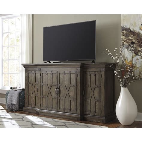 Large Dining Room Sets by Ashley Burladen 76 Quot Tv Stand In Grayish Brown W846 48