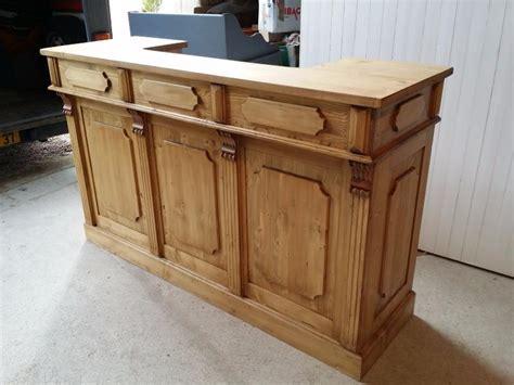 bar comptoir en bois ancien pin massif