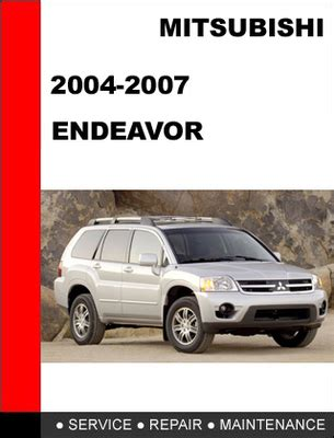 service and repair manuals 2004 mitsubishi endeavor instrument cluster mitsubishi endeavor 2004 2007 factory service repair manual downl