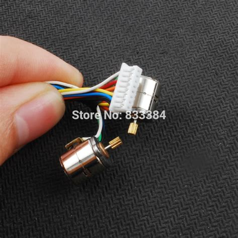 Dc Micro Stepper Motor 3v Dc 4 Wire 2 Phase 18 Degree With Output Gear 10pcs 1 5v 3v dc 42pcs wire 2 phase micro stepper motor with output copper gear miniature
