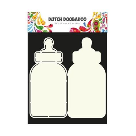 Baby Bottle Template Card by Doobadoo Card Template Baby Bottle 713582
