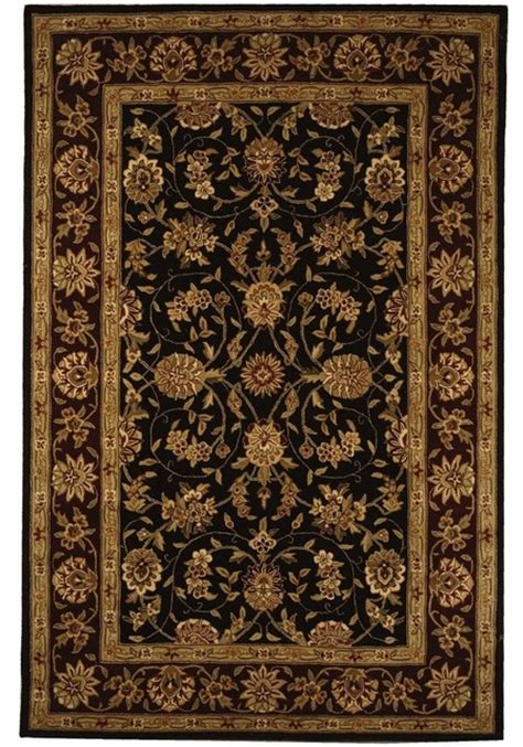 Houzz Area Rugs Traditional Traditions 5 X8 Rectangle Black Burgundy Area Rug Traditional Area Rugs By