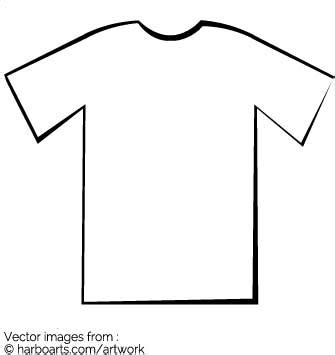 simple t shirt template t shirt outline vector graphic