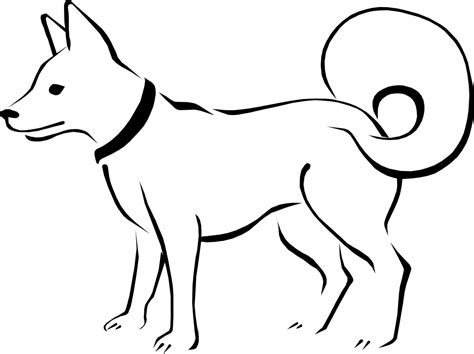 black and white coloring pages of dogs 187 eskimo black white line stuffed