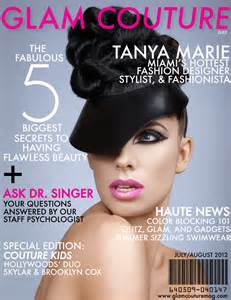 Design Of Magazine Cover Page | glam couture magazine cover page design