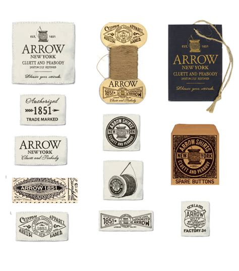 arrow cluett labels and packaging by glenn wolk via arrow cluett labels and packaging by glenn wolk graphic