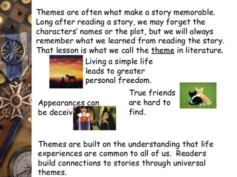 themes in popular stories theme main idea and drawing conclusion
