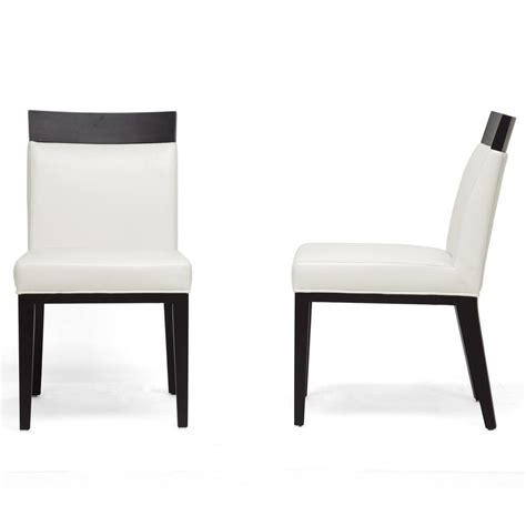 Baxton Studio Dining Chairs Baxton Studio Clymene Faux Leather Upholstered Dining Chairs Set Of 2 2pc 4324 Hd The