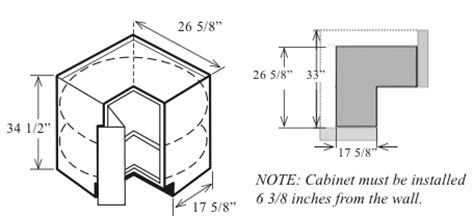 lazy susan cabinet sizes corner cabinets