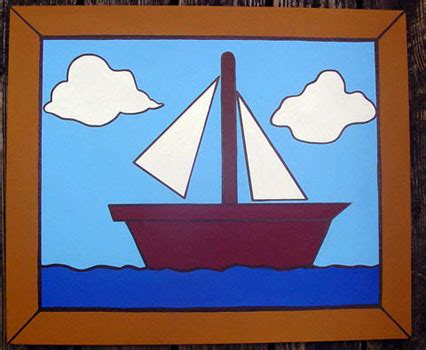 simpsons painting s living room sailboat 20 x 24 july 2006 by