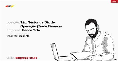 banco yetu recrutamento banco yetu t 233 cnico s 233 nior de direc 231 227 o de opera 231 227 o trade