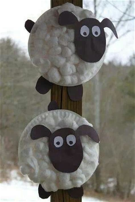 paper plate sheep craft oveja con plato de cart 243 n y algodones manualidades