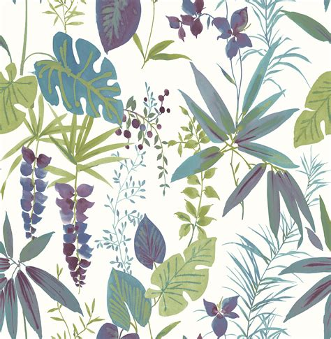 botanical print wallpaper a street prints descano exotic plum botanical wallpaper