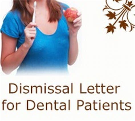 Patient Termination Letter Dental dismissal letter