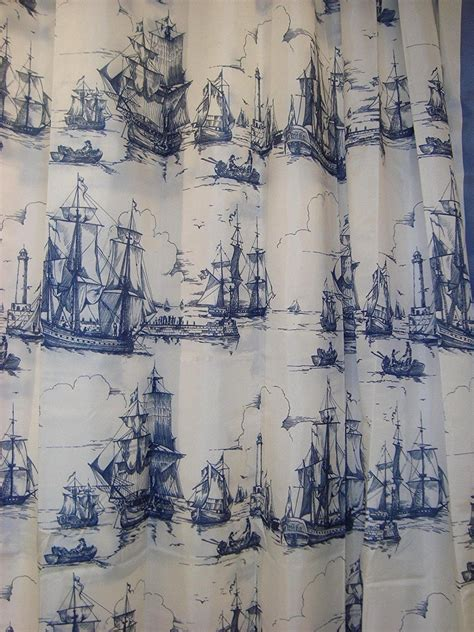nautical fabric for curtains beautiful nautical curtains for shower and windows
