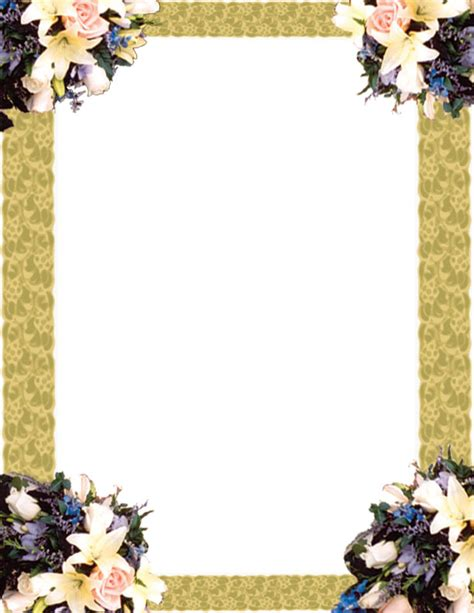 Wedding Border For Word by Page Borders For Microsoft Word
