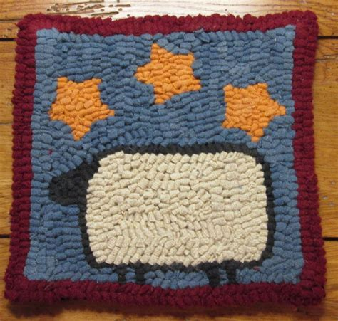 hooked rug kits for beginners beginner sheep with primitive rug hooking kit with cut