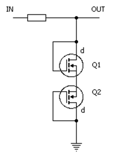 diode connected mosfet design mosfet clipping by orman