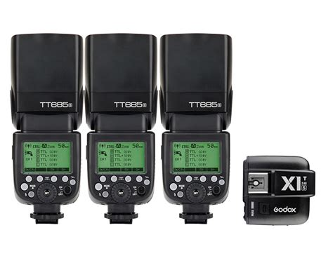 Godox Tt685s Ttl Speed For Sony With Godox X1t S Trigger 3 x godox tt685s ttl flash speedlite x1t s wireless trigger transmitter for sony godox canada