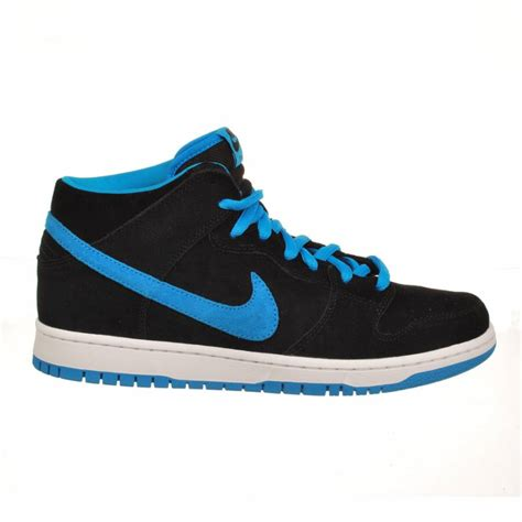 skater shoes nike dunk mid pro sb black blue skate shoes mens