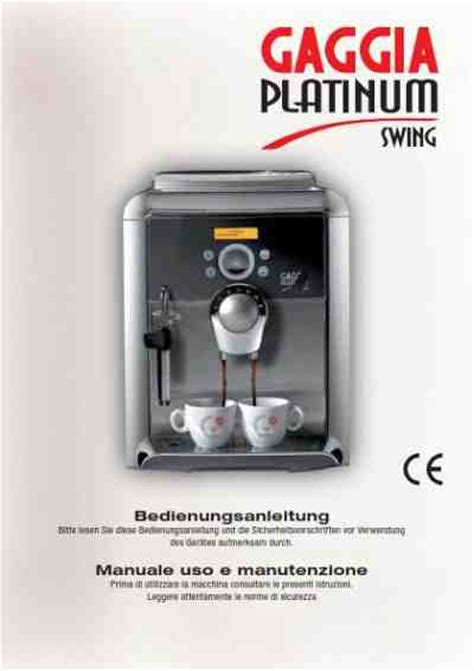 gaggia platinum swing gaggia platinum swing coffee maker download manual for