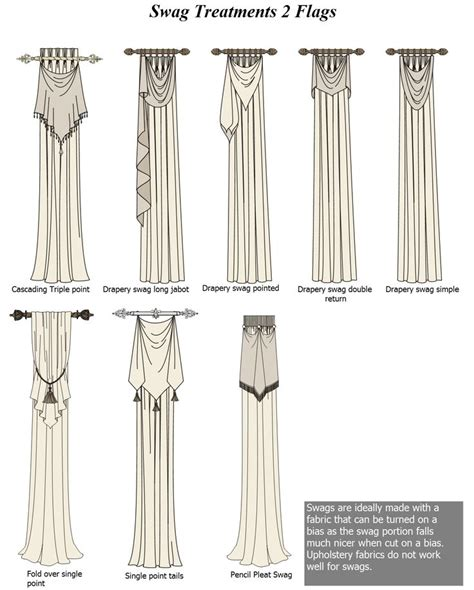 swags curtains style swags flags cascading triple point drapery swag long