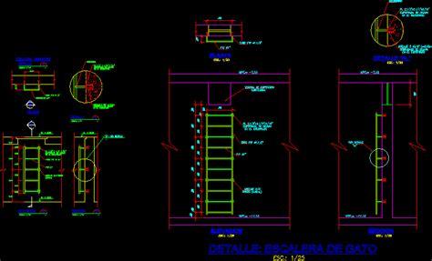 cat ladder high tank inspection water cistern dwg block