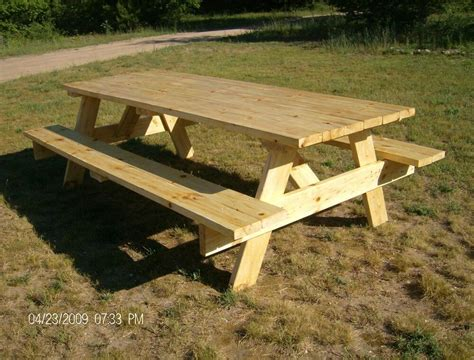 picnic table plans easy  build ebay