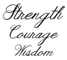 strength courage and wisdom tattoo designs courage leads to strength tattoos