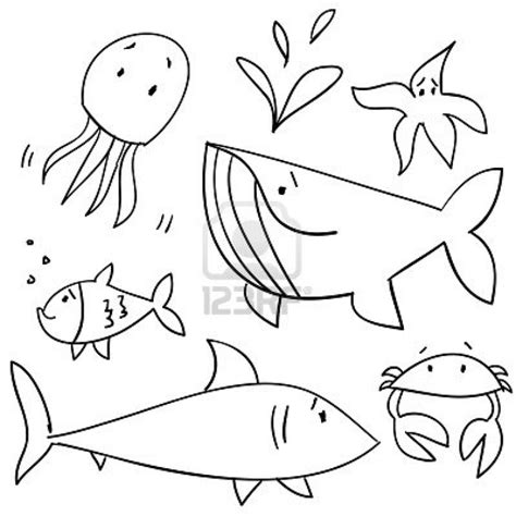 how to draw doodle creatures how to draw sea creature doodles schooling