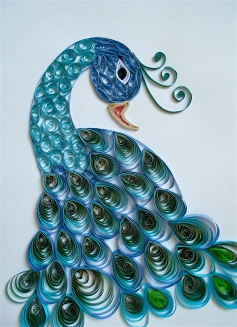 How To Make Paper Quilling Peacock - quilled peacock paper quiling