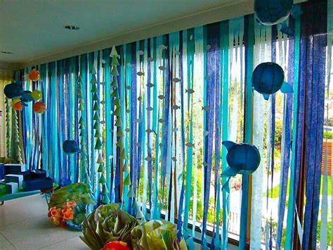 Sea Themed Curtains Decor 37 Best Images About The Sea On Balloon Arch Sand Glass And Fish Centerpiece