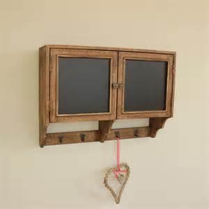 Blackboard wall cupboard with hooks melody maison 174