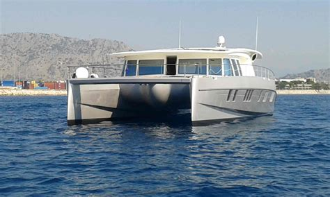 electric catamaran cruiser solar hybrid power catamarans called solarwave cruiser