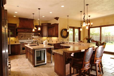 big kitchen island ideas shelf kitchen sink cottage dark stain cabinets cabinets