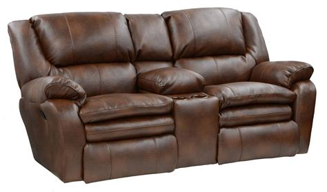 catnapper loveseat catnapper russell bonded leather lay flat reclining sofa