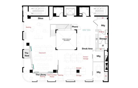 lab floor plan capital one lab studio o a archdaily