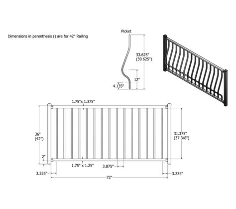handrail section montego aluminum railing phillips fencing