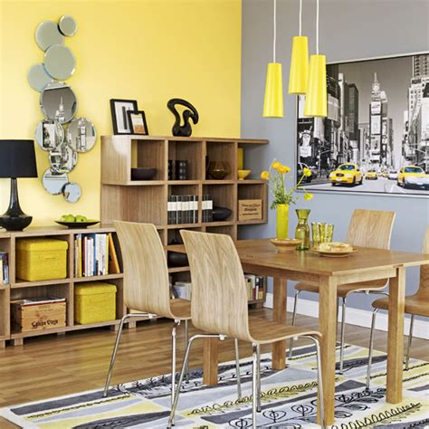 Gray And Yellow Dining Room Ideas Room Styling Paint On Green Living Rooms
