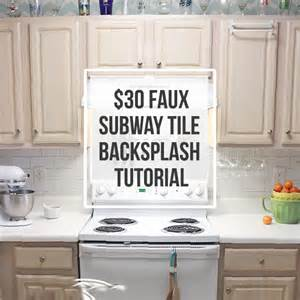 30 faux subway tile backsplash diy inspiration diy