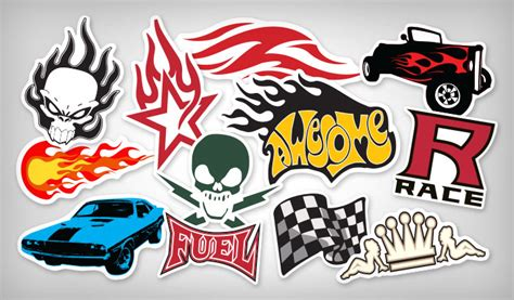 Amazing Sports Car Brands Logos #6: FlameAndRacingStickers.jpg