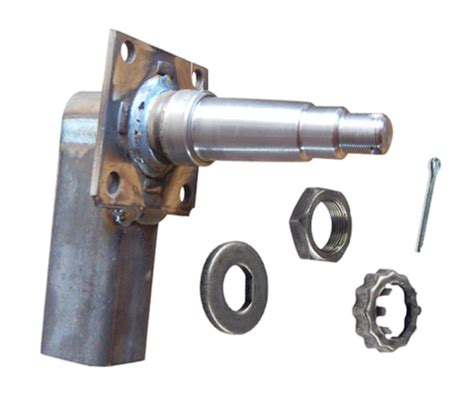 """trailer axle drop spindle, tapered for 1 3/8"""" x 1 1/16"""