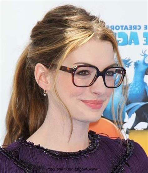 ideas  long hairstyles  girls  glasses