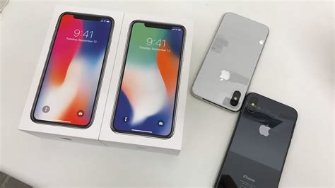iphone x colour comparison space grey and silver