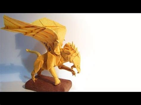 Origami Griffin Tutorial | how to fold origami gryphon 摺紙獅鷲教學 32x32 box pleating